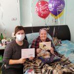 Специалисты КЦСОН Пугачевского района поздравили с юбилеями тружеников тыла