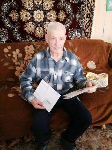 Долгожитель из Пугачевского района отметил 90-летний юбилей