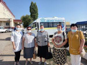 На медицинское обследование доставлены жители поселка Пугачевский